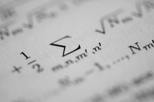 Close up of scientific text