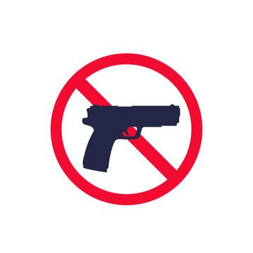 no guns sign with a pistol