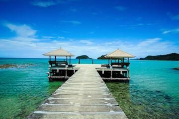 pier at Koh Mak island in Trat of Thailand, unseen Thailand