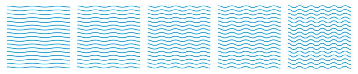 Fototapeta Set of wavy zigzag lines. Wave thin line background. Vector zigzag and wavy blue horizontal underline. Vector illustration EPS10. obraz