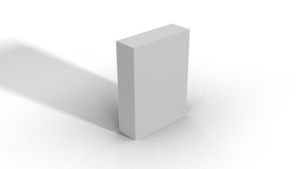 Blank White Box Scale top view 3-1-4 with shadow