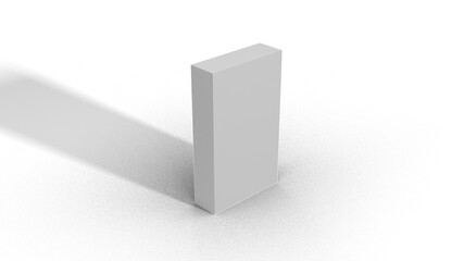 Blank White Box Scale top view 3-1-5 with shadow