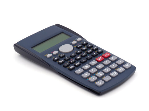 Scientific calculator isolated on white background