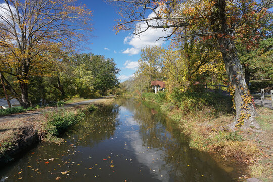 Washington Crossing, NJ: The Delaware Canal Towpath, a National Recreation Trail, runs along a 19th-century canal built to transport coal from the Upper Lehigh Valley to Philadelphia.