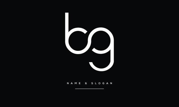 BG,GB,B ,G  Abstract Letters Logo Monogram