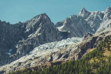 Wall Mural - Mont Blanc Massif Glacier Scenic Summer Landscape