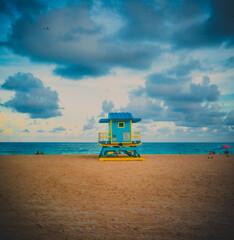 lifeguard tower on the beach miami florida
