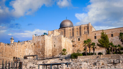 Al-Aqsa Mosque, located in the Old City of Jerusalem, is the third holiest site in Islam. september 2020