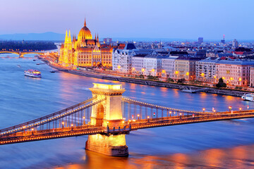 Budapest at night - Parliament, Hungary