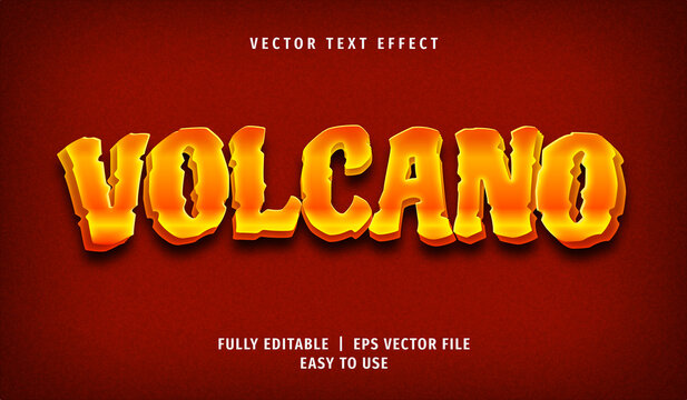 3D Volcano Text effect, Editable Text Style