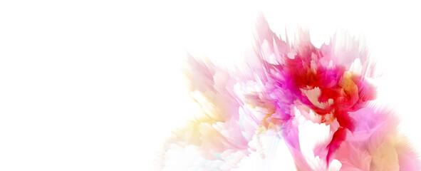 Digital Illustration. Color rainbow blot splash. Abstract background.