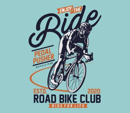 Road Bike for T shirt graphic