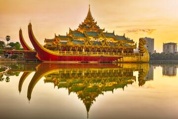 Karaweik Palace in Myanmar