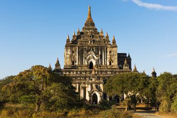 Thatbyinnyu pagoda in Bagan in Myanmar