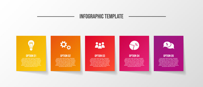 Business infographic with icons. Diagram. Vector