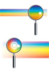 Rainbow under the microscope (2pcs.)