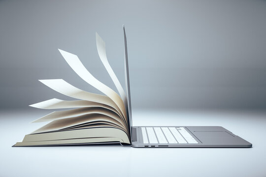 Abstract open book notebook