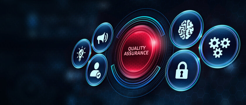 Business, Technology, Internet and network concept. Quality Assurance service guarantee standard.