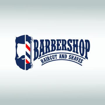 Barber Shop labels, banner, logo vector
