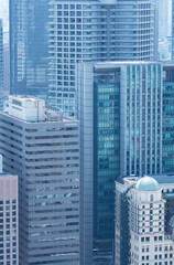 Fototapete - High rise office building in Osaka City, Japan