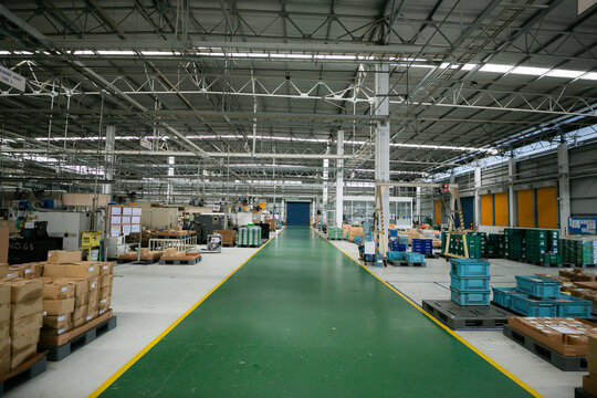 Factory material storage area, Warehouse for keep stock, Manufacturing line , Manufacturing for machining  area and  raw material storage.
