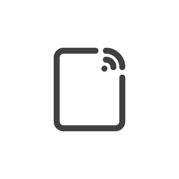 Share wifi line icon. linear style sign for mobile concept and web design. Wireless connection outline vector icon. Chromecast symbol, logo illustration. Vector graphics