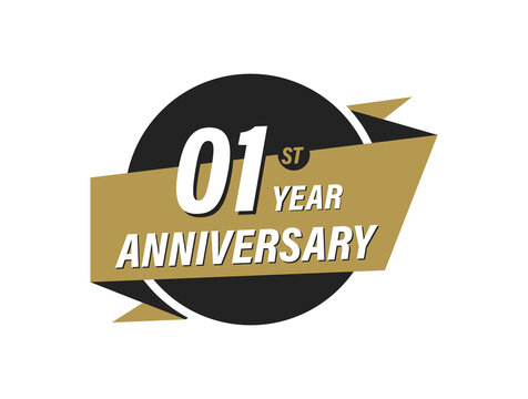 1 Year Anniversary Vector images Design Illustration