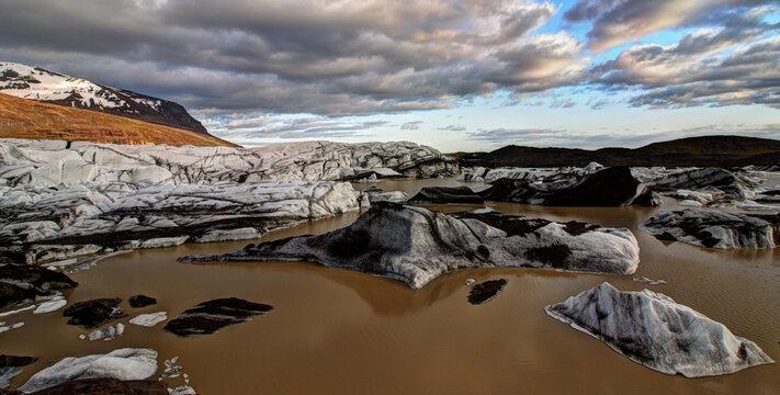 Vatnajokull Glacier in South Iceland