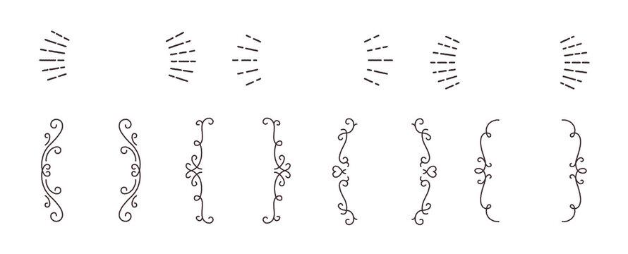 ラフな線 シンプル おしゃれ 装飾 飾り罫 見出し 強調 囲み ベクター フレーム