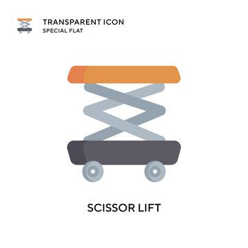 Scissor lift vector icon. Flat style illustration. EPS 10 vector.
