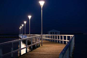 pier in the night