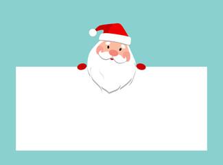 Weihnachtsmann mit Schild
