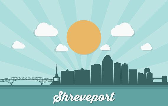 Shreveport skyline - Louisiana, United States of America, USA - vector illustration