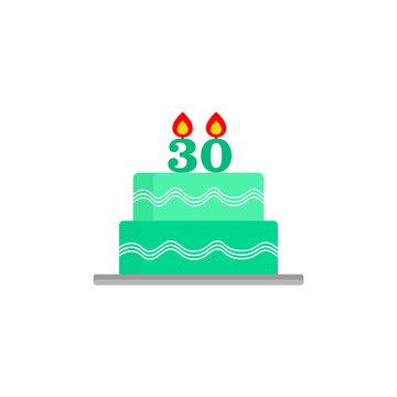 Birthday cake. 30th birthday. 30th anniversary cake. Congratulations