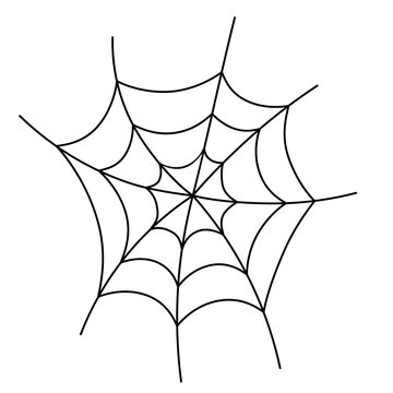 Spider web icon. Clipart image isolated on white background