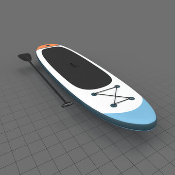 Standup paddleboard with paddle