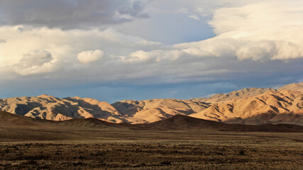 Beautiful scenery of Mongolian wild nature and landscape