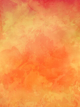 old orange paper background with watercolor stains and vintage texture in elegant autumn or halloween website or textured paper design