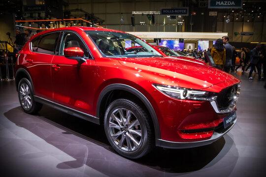 New Mazda CX-5 car at the 89th Geneva International Motor Show. Geneva, Switzerland - March 5, 2019.