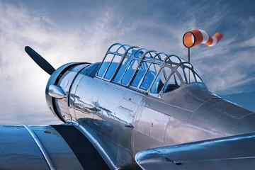 historical aircraft at an airfield