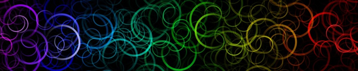Fantastic circle panorama background design illustration