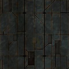 seamless old space ship metal panels pattern