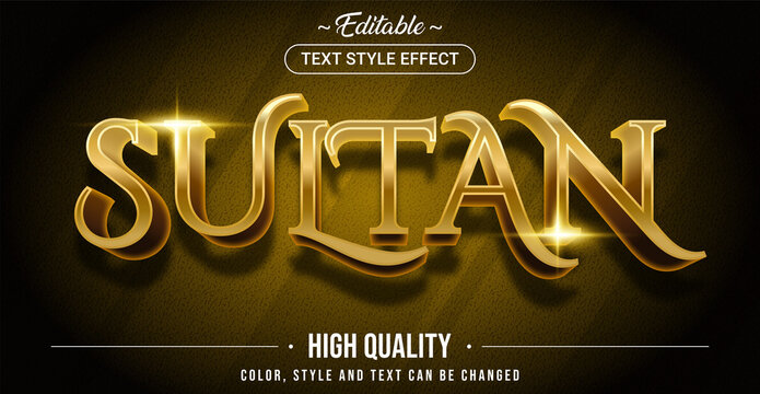 Editable text style effect - Sultan theme style.