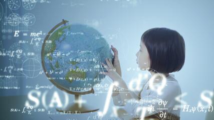 科学教育イメージ 勉強する女の子