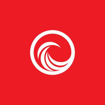 vortex circle red vector illustration icon Logo