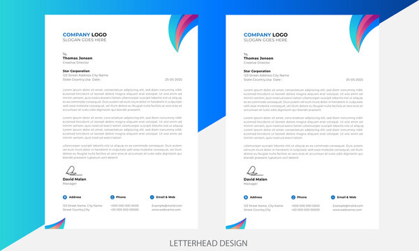 creative modern letter head templates for your project design, Vector illustration