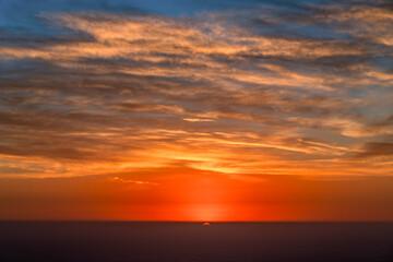 Deurstickers Rood paars Dramatic sunset