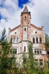 Facade of the old abandoned Catholic Church