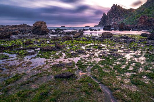 Beautiful landscape of Watulumbung beach in Gunung Kidul, Yogyakarta, Indonesia