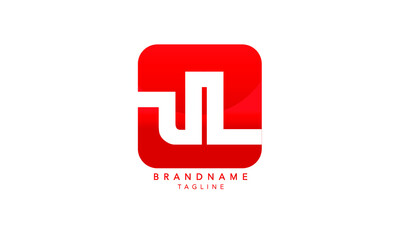 Obraz Alphabet letters Initials Monogram logo UL, LU, U and L - fototapety do salonu